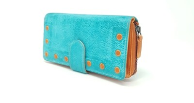 Purse for woman duo-coloured washed style