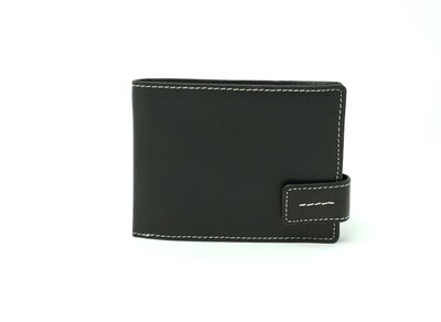 Wallet with loop made from oiled pull-up leather