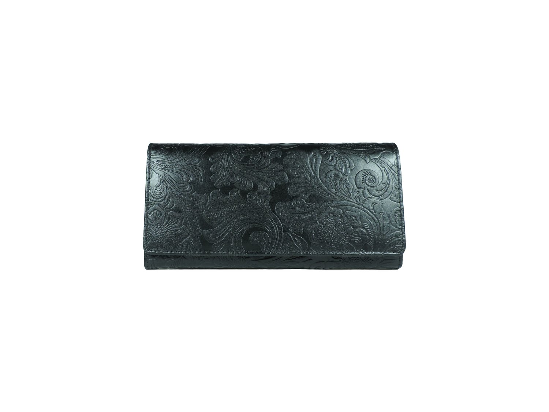 Women's purse, flower print, L-size