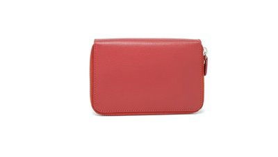 Women's purse, double zipper, saffiano leather