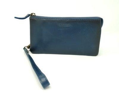 Clutch bag, jeans look, zipped