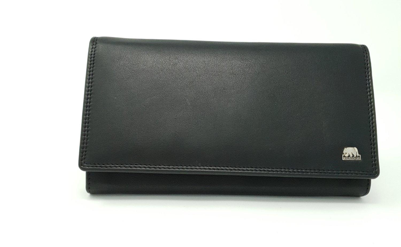Women's purse classic black, Brown Bear line, L-size