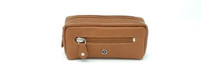 Key case brown calf leather