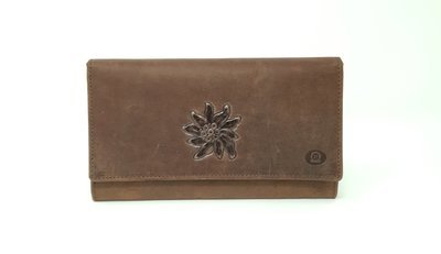 Women's purse, hunter leather, L-size