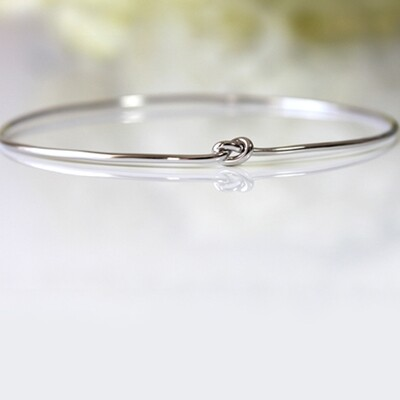 Sterling Silver Knautical Love Bangle