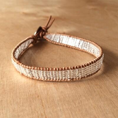 Silver Moon Miyuki Seed Bracelet