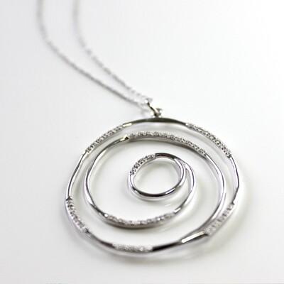 Sterling Silver Spiral Necklace