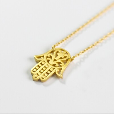 Vermeil Hamsa Protection Necklace