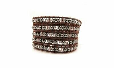Hematite Wrap Bracelet