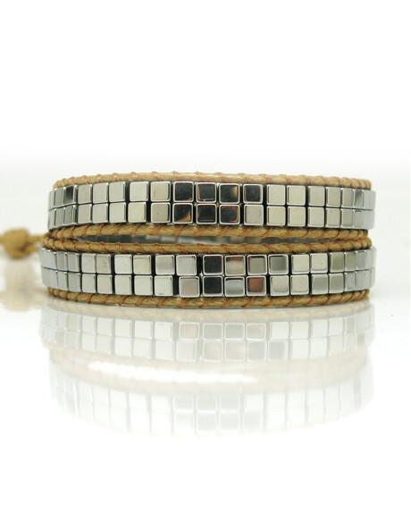 Hematite Vegan Wrap Bracelet