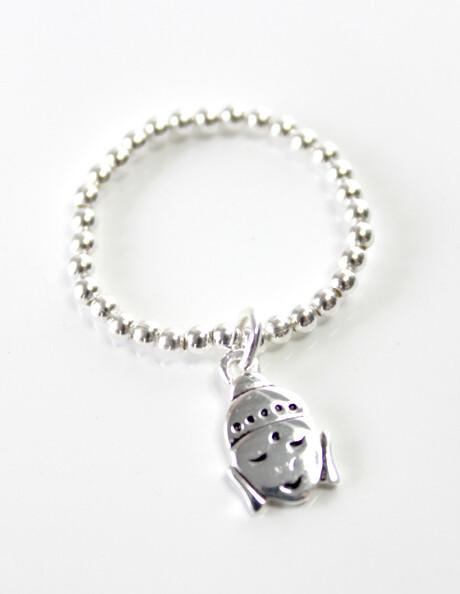 Sterling Silver Buddha Stretch Ring