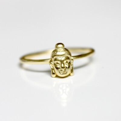 Vermeil Buddha Ring Size 6