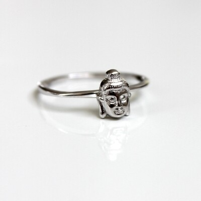 Sterling Silver Buddha Ring Size 6