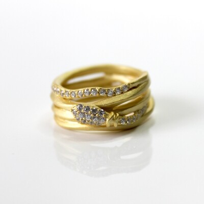 Vermeil Serpent Coil Ring Size 6