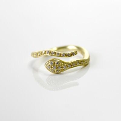 Vermeil Serpent Ring Size 6
