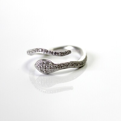 Sterling Silver Serpent Ring Size 6