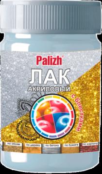 """Лак декоративный с блестками """"Palizh"""" 190 (Золото)"""