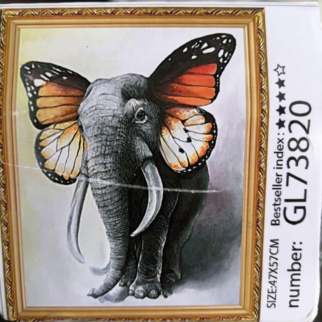 Алмазная мозаика без подрамника 40*50 см GL73820