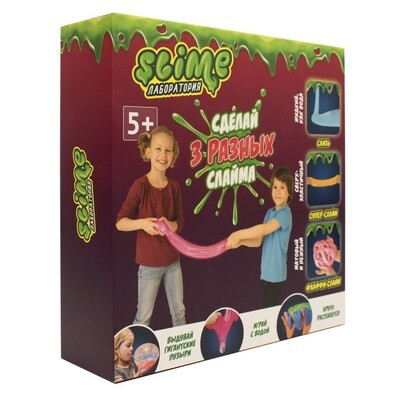 Средний  набор 3 в 1 Slime