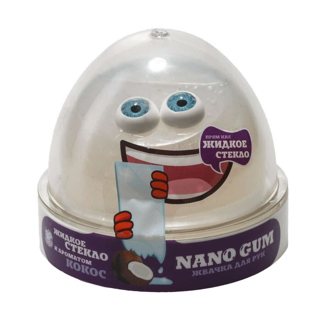 Nano Gum, Жидкое стекло с ароматом Кокоса 50 гр