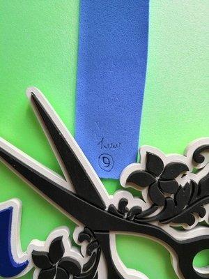 Фоамиран Китай 1 мм 50х50 см #9 (Голубой)