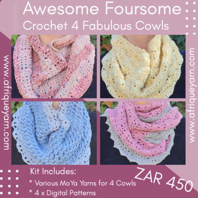 Awesome Foursome Crochet Cowl Kits