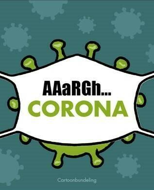 Pre-order cartoonbundeling corona tweede druk (je krijgt je exemplaar toegestuurd vanaf 13/7)