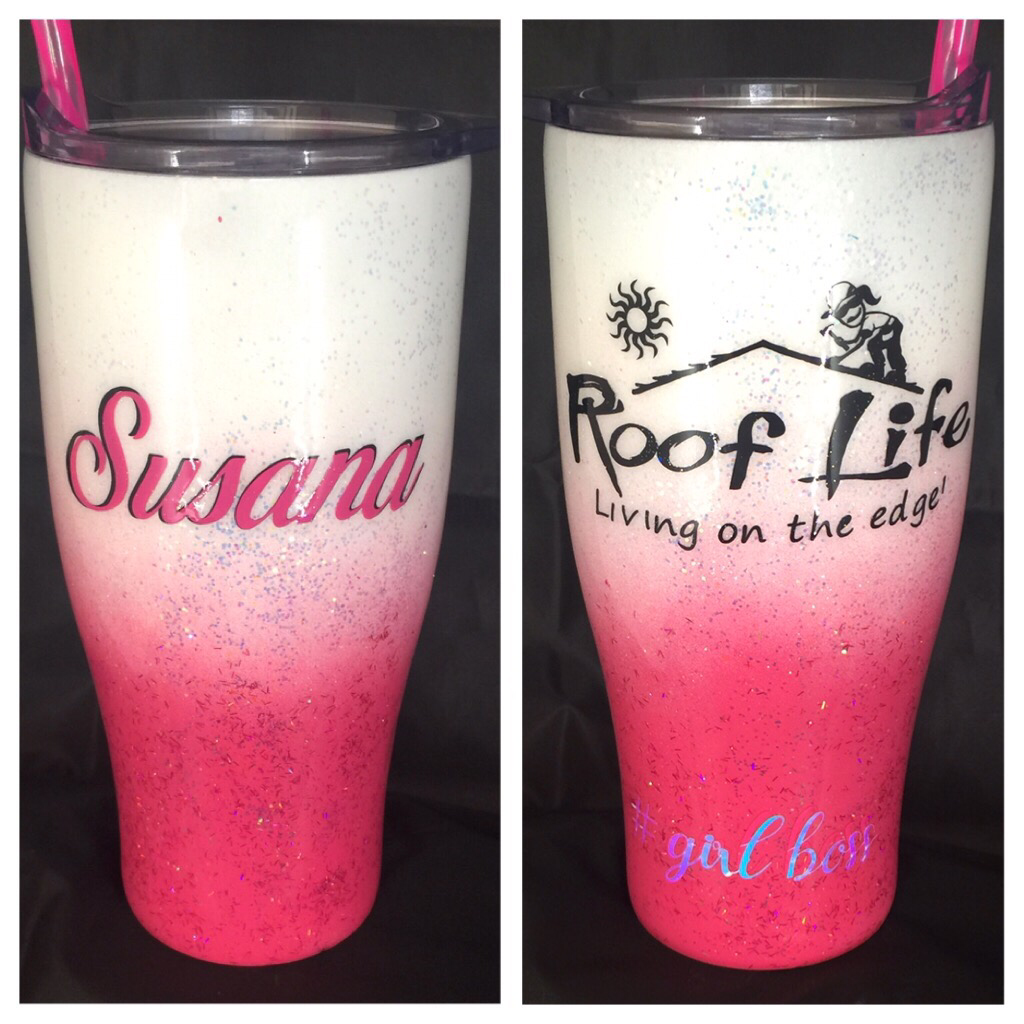 30oz  ombré  with 2 decals $40