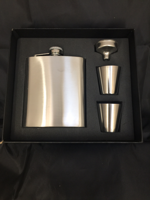 Stainless Steel Whisky Flask Box set