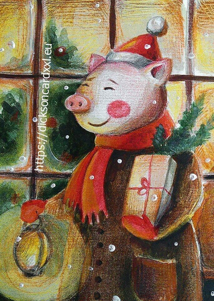 New Year's pig with gifts 🐷 Новогодний хрюнь с подарками