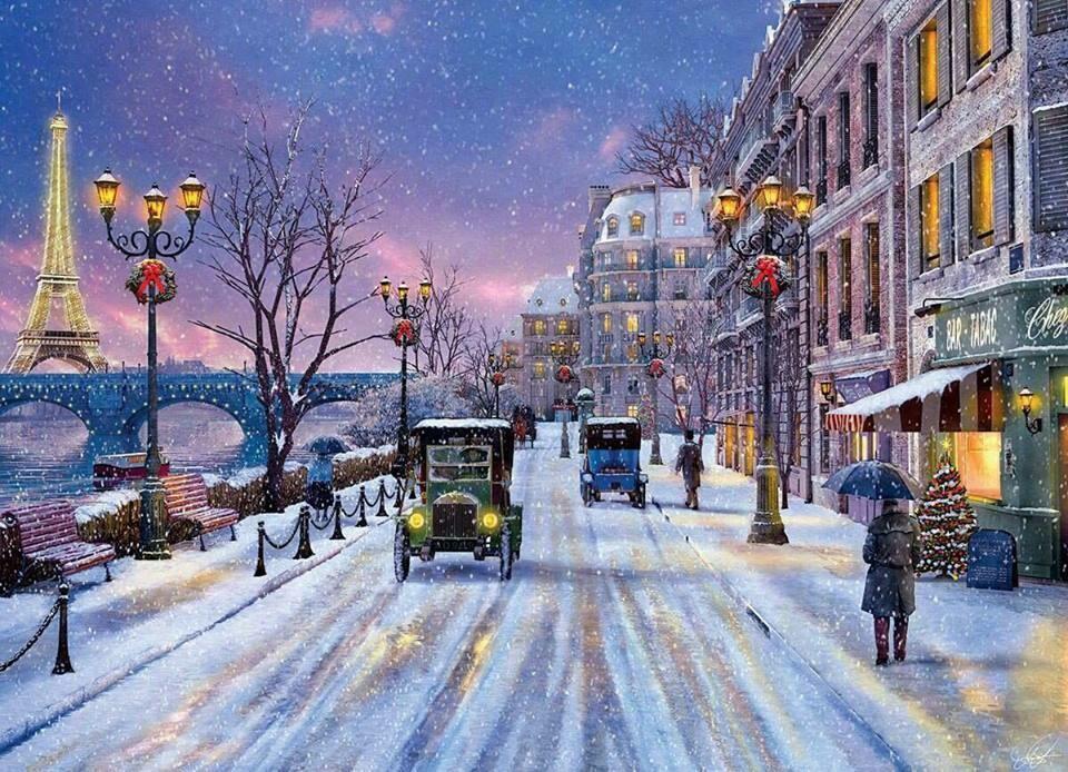 Paris in the snow