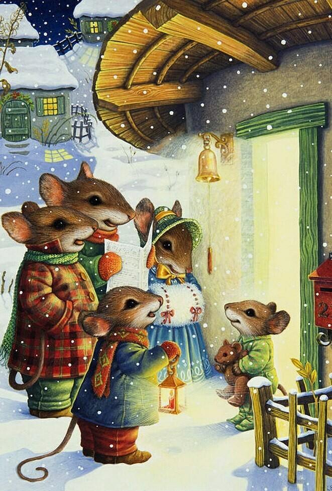 Mouse, Christmas carols  Susan Wheeler. Мыши , Рождественские песнопения