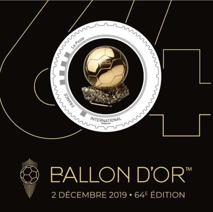 Collector 1 stamp - Ballon d'Or - Priority Letter (except China) Золотой мяч