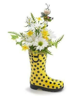 ​Flowers in yellow boots​