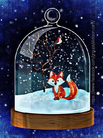 Snow fox 🦊 in a ball