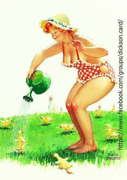 Hilda with watering can by © Duane Bryers
