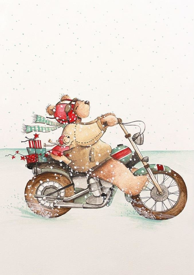 Bear with motorcycle gifts