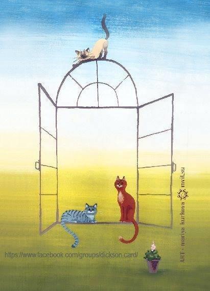 Cats in the window frame  © Мария Куркова