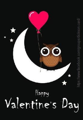Owl. Valentines day