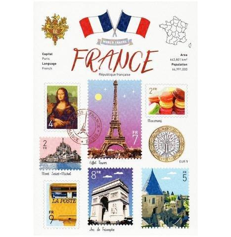 WT © World Travel FRANCE Postcard