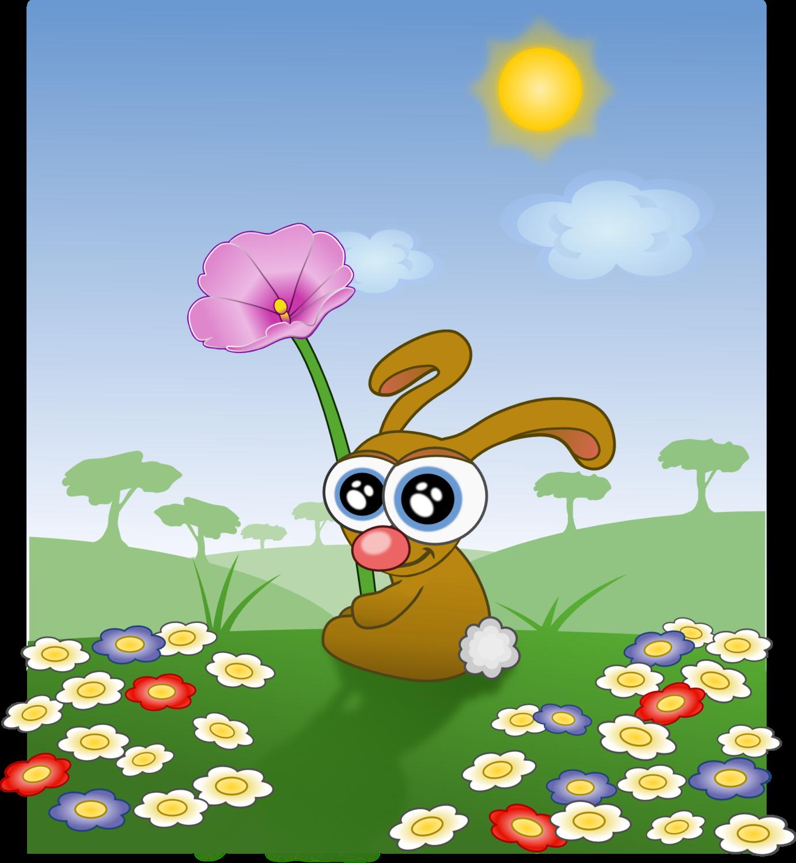 """Saint Valentine """" Rabbit with a flower  """""""