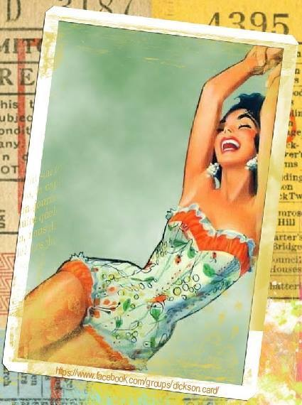 Vintage retro collage art