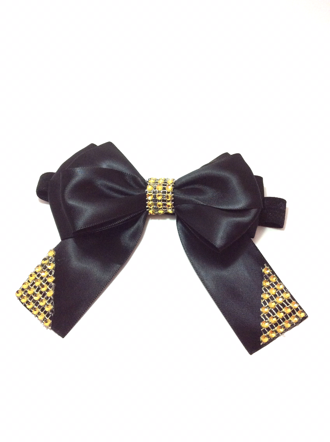 Black Panther Inspired Black - Gold Hair Bow