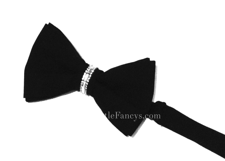 Black - Rhinestone Bow Tie