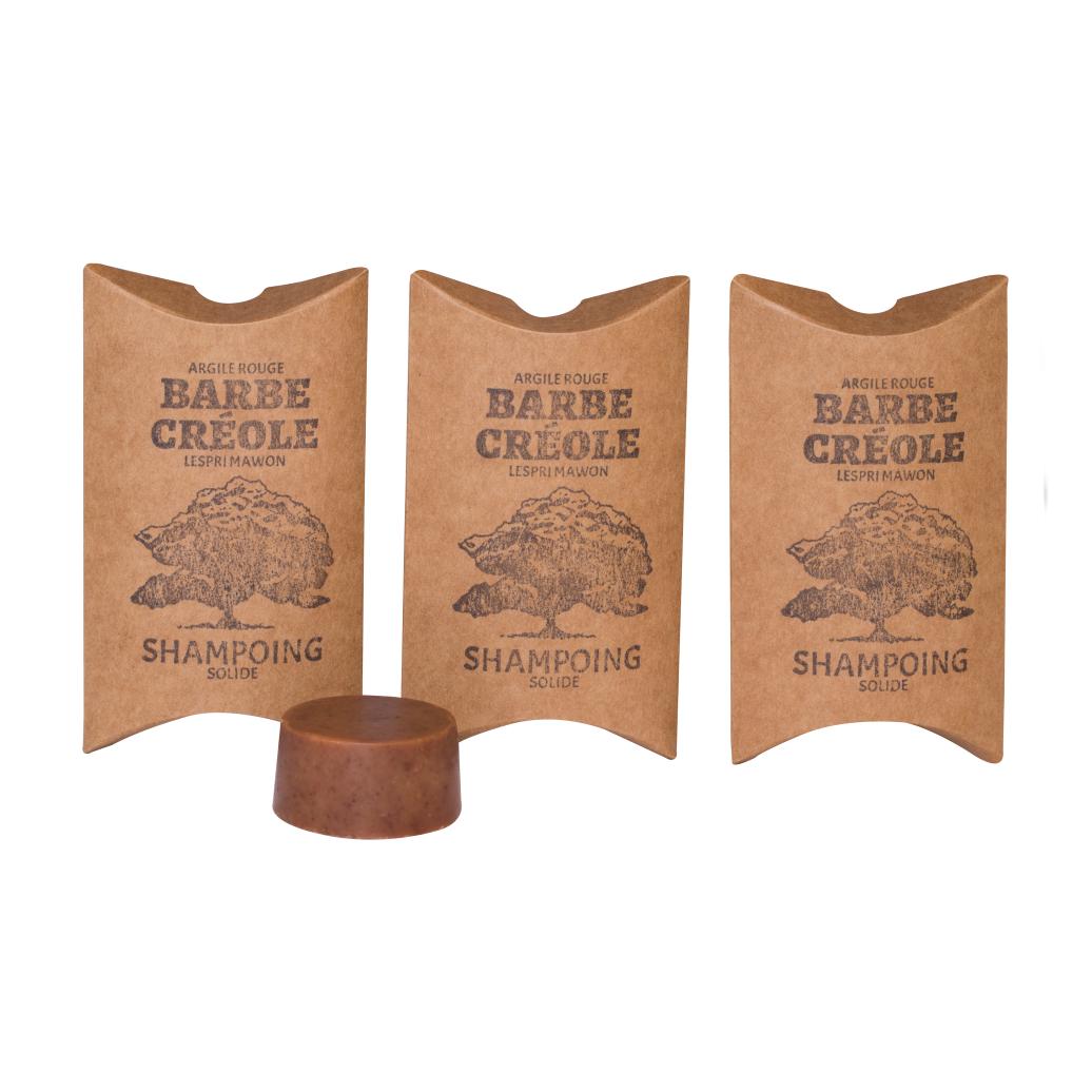Lot de 3 Shampoing solide pour Barbe - Argile Rouge - 20g/unité