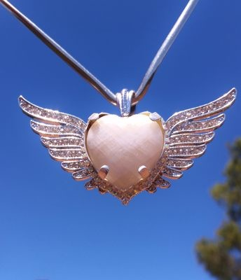 Gorgeous Sedona Angel Wings of LOVE Crystal from City of Light/Lightworkers Sale $444/555.00