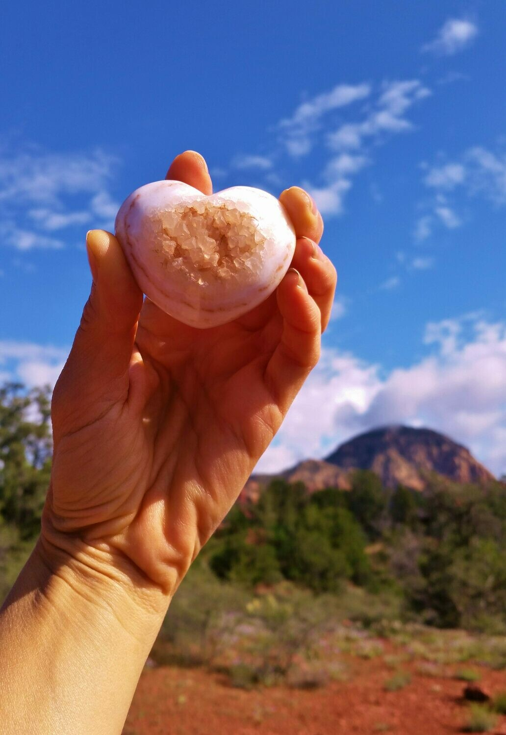 Golden Holding Heart healer White Light Sedona Crystal Universal LOVE & Miracles
