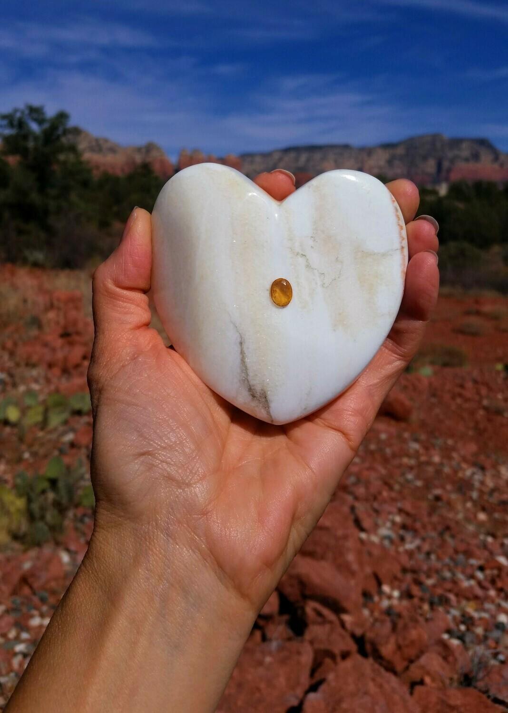 Citrine White & Gold  Christos Sedona Mega Vortex Power Holding Heart Light Crystal Universal LOVE & Miracles $1333.00