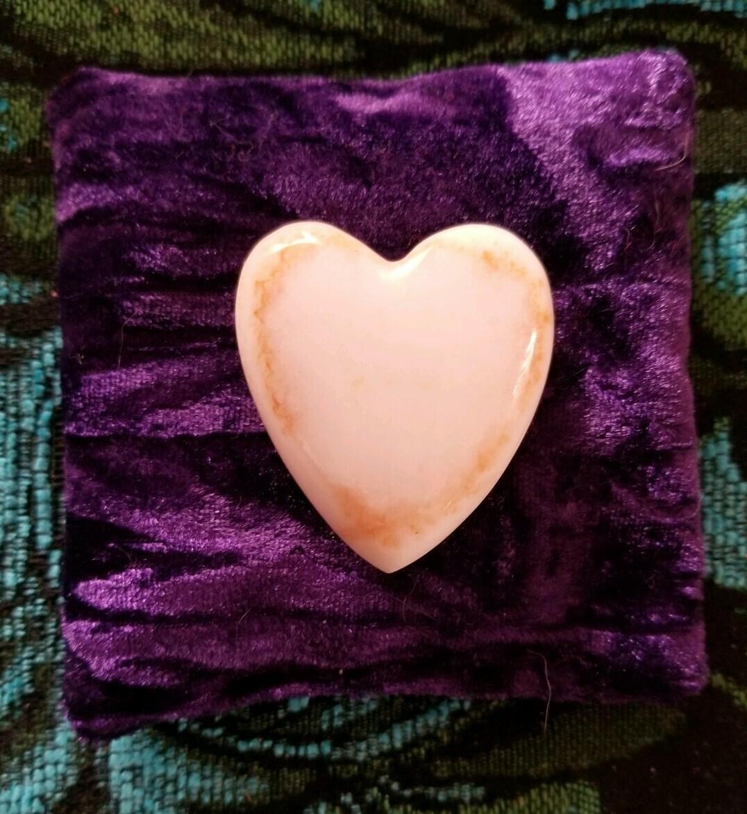 Sedona Holding Healing Heart White Light Crystal LOVE/ Red Rock Aura magnetic vortex imprint