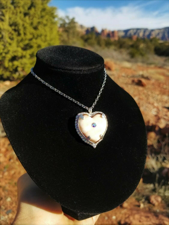 Heart of Sedona Promise White Light Crystal City of Light LOVE / Valentines Sale $244.00/333.00